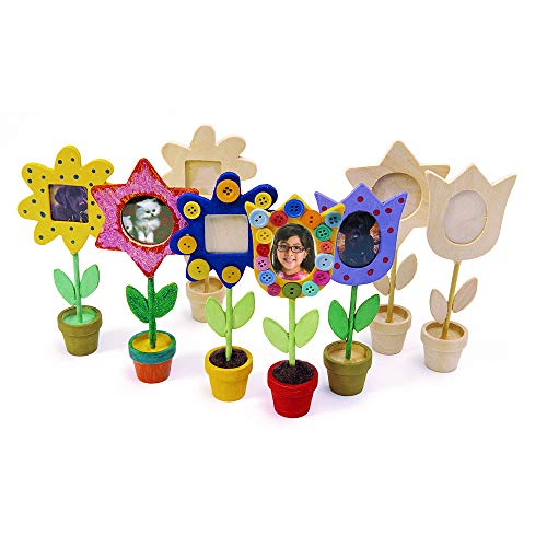 Colorations Wooden Flower Pot Frames  Set of 12 Item # FLFRM