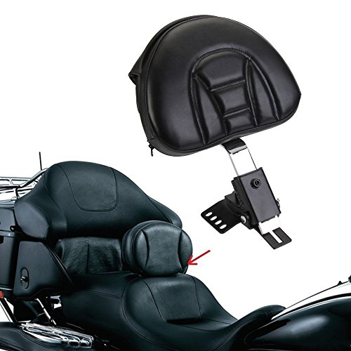 Motorcycle Chrome Short Detachable Backrest Rear Passenger Luggage Rack Back Rest Sissy Bar Pad Mount Kit For Harley Sportster XL 1200C 1200S 1996-2000 XL 883C 883R 1200R H883 H1200 2004-2014 Type A