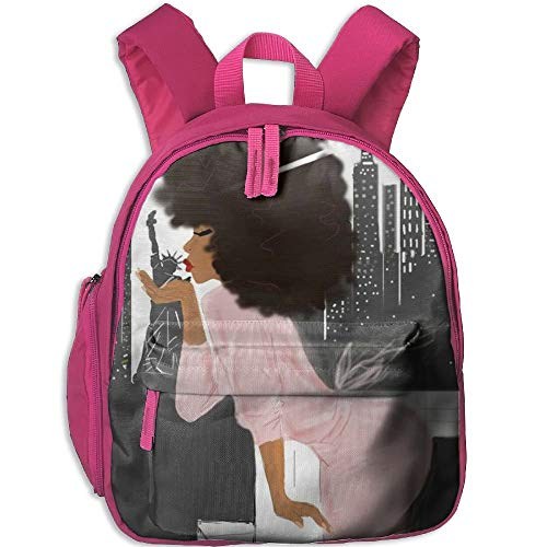 Kindergarten Backpack African Women Love New York Children School Bag]()