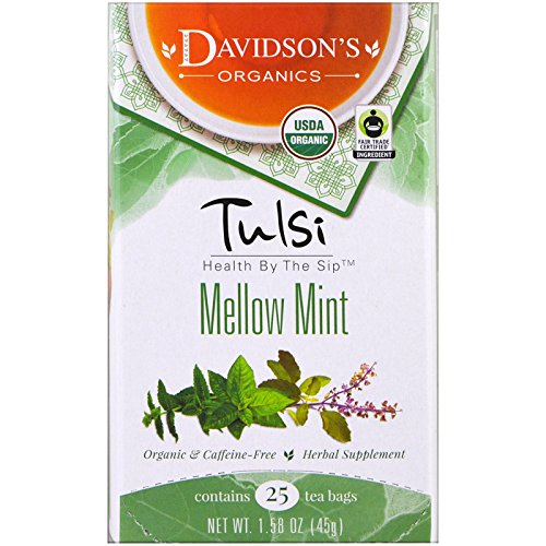 Davidson s Tea Tulsi Mellow Mint Tea Caffeine-Free 25 Tea Bags 1 58 oz 45 g