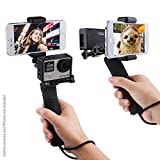 CamKix Replacement Stabilizing Hand Grip Compatible with GoPro Hero with Dual Mount, Tripod Adapter and Universal Phone Holder - Record Videos with 2 Different Camera Angles Simultaneously