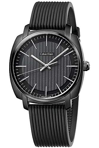 - Calvin Klein Highline Black Dial Silicone Strap Men's Watch K5M314D1
