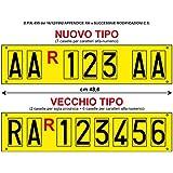 Serie Completa Di Lettere Adesive X Targa Ripetitrice Rimorchi Caravan Auto