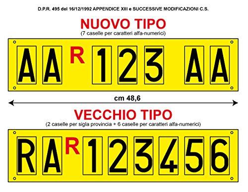 Serie Completa Di Lettere Adesive Per Targa Ripetitrice Kolpito