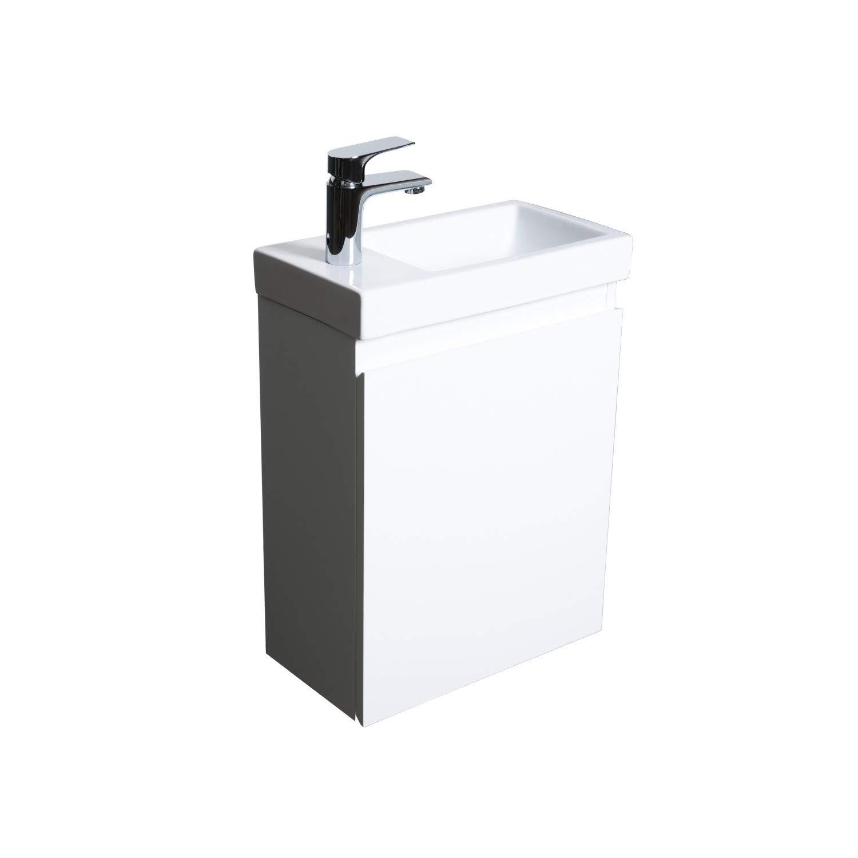 Meuble Lave-Mains L41 x H53 Blanc Lisa