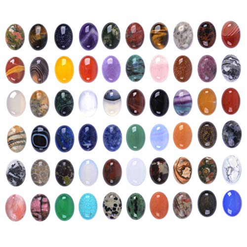 Wholesale Lot 24pcs Multi-color 18mm Gemstone Oval Cab Cabochon For Jewelry Making