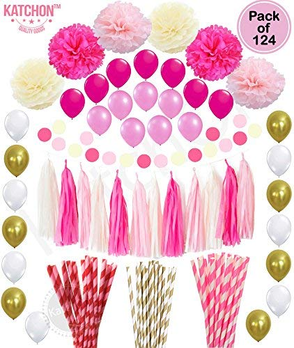 KATCHON Multi Pink Decor Set - Pink and Gold Party Decorations