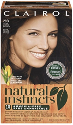 Clairol Natural Instincts Hair Color, 28B Dark Warm Brown 1 ea (Pack of 9) by Clairol