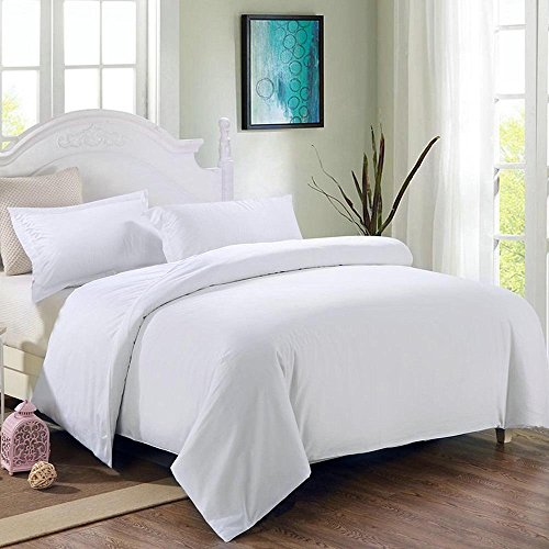 CHIMAERA Hypoallergenic Hotel Quality White Soft Duvet Sheet Set with Pillow Shams (Twin Tufted Organic Wool)
