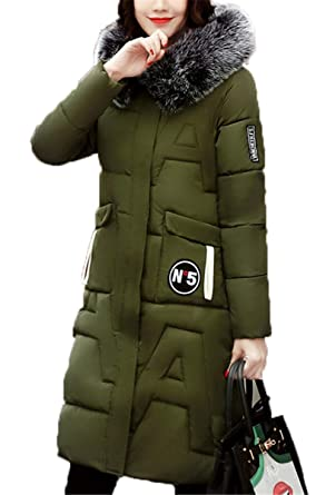 EMIN Damen Mantel Wintermantel Steppmantel Winterparka
