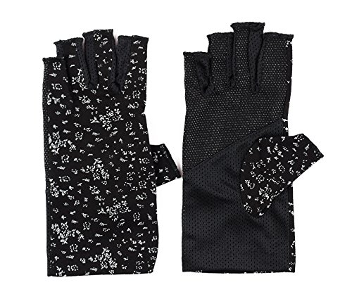Ladies Fashion Summer Driving Gloves Touchscreen UV Driving Gloves Sun Light Weight Driving Gloves, One Size, Black (Ladies Gloves Fingerless)
