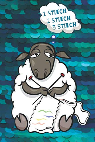 'Counting Stitches' Woolly Sheep Knitters Notebook With Knitting Graph Paper For Knitting Patterns ()