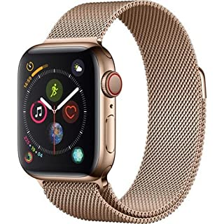 Apple Watch Series 4 (GPS + Cellular, 40mm) - Gold Stainless Steel Case with Gold Milanese Loop (B07JBZ996M) | Amazon price tracker / tracking, Amazon price history charts, Amazon price watches, Amazon price drop alerts
