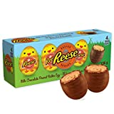 Reese Milk Chocolate and Peanut Butter Easter Eggs, 4 Pack of Eggs, 136g, 136 Grams