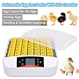 Yescom 56 Digital Egg Incubator Hatcher Temperature Control Automatic Turning w/Built-in LED Candler Chicken