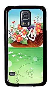Samsung Galaxy S5 Children Art Illustration PC Custom Samsung Galaxy S5 Case Cover Black