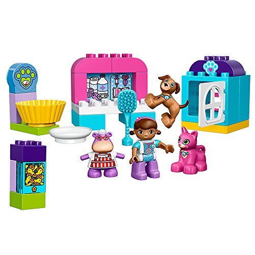 LEGO Duplo l Disney Doc McStuffins' Pet Vet Care 10828 Learning Toy for Toddlers, Large Building Bricks]()