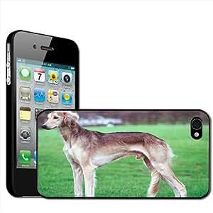 Fancy A Snuggle - Carcasa rígida para iPhone 4 y 4S, diseño de perro