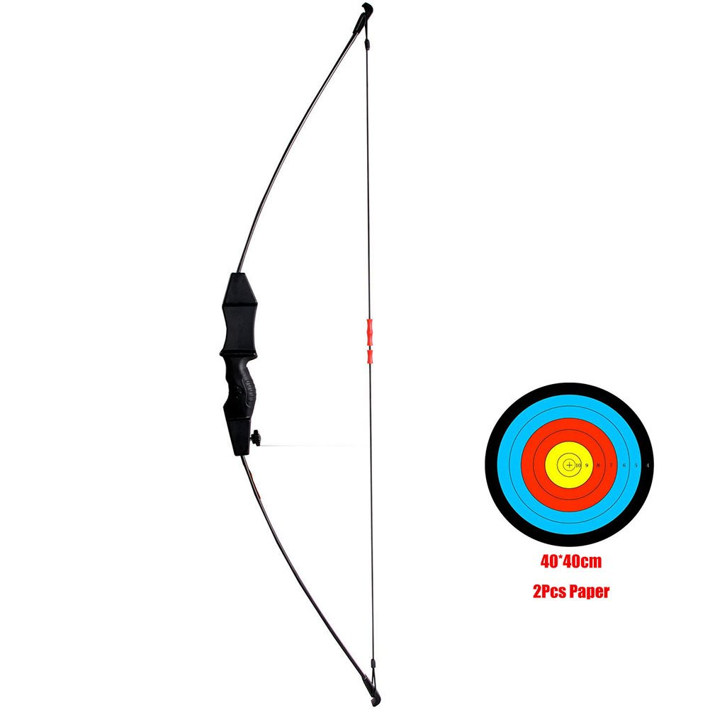 PG1ARCHERY Archery Takedown Kids Bow Outdoor Sports Game Hunting Basic Gift Bow with Target Sheet Set Kit for Boys Girls Teens Youth Black
