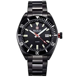 Swiss Military Hanowa 06-5214.13.007 - Reloj analógico de cuarzo para hombre, correa de acero inoxidable chapado color negro
