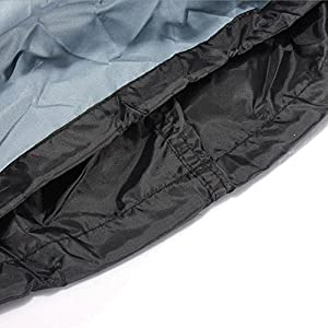 OutFans Durable BBQ Grill Cover for Home Garden Outdoor Use, Windproof Waterproof Dustproof Against-ultraviolet Ray, Rip Resistant( Black) (Small)