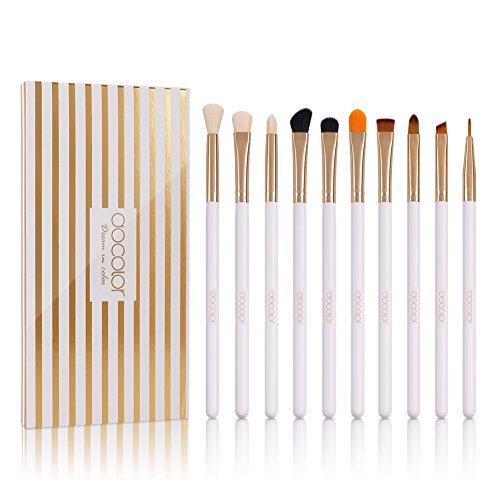 Docolor 10 Pcs Makeup Brush Set Professional Eye Makeup Brushes For Eyeshadow Concealer Eyeliner Brow Blending Brush Tool