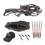 Ravin Crossbows R26 400 FPS Predator Hunter's Crossbow Bundle (Dusk Grey) with Hard Case, 6 Carbon Arrows and NAP Broadheads