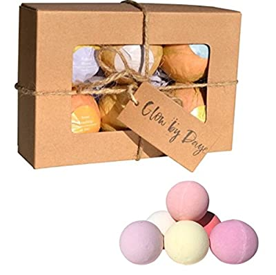 Bath Bombs- Premium Muscle & Joint Therapy Bath Salt Balls, Gift Set, 6 XL Bath Bomb Gift Set - Essential Oils & Therapeutic Salts - FREE GIFT of Silk Strings in Each Set of 4 oz Bath Bombs Organic