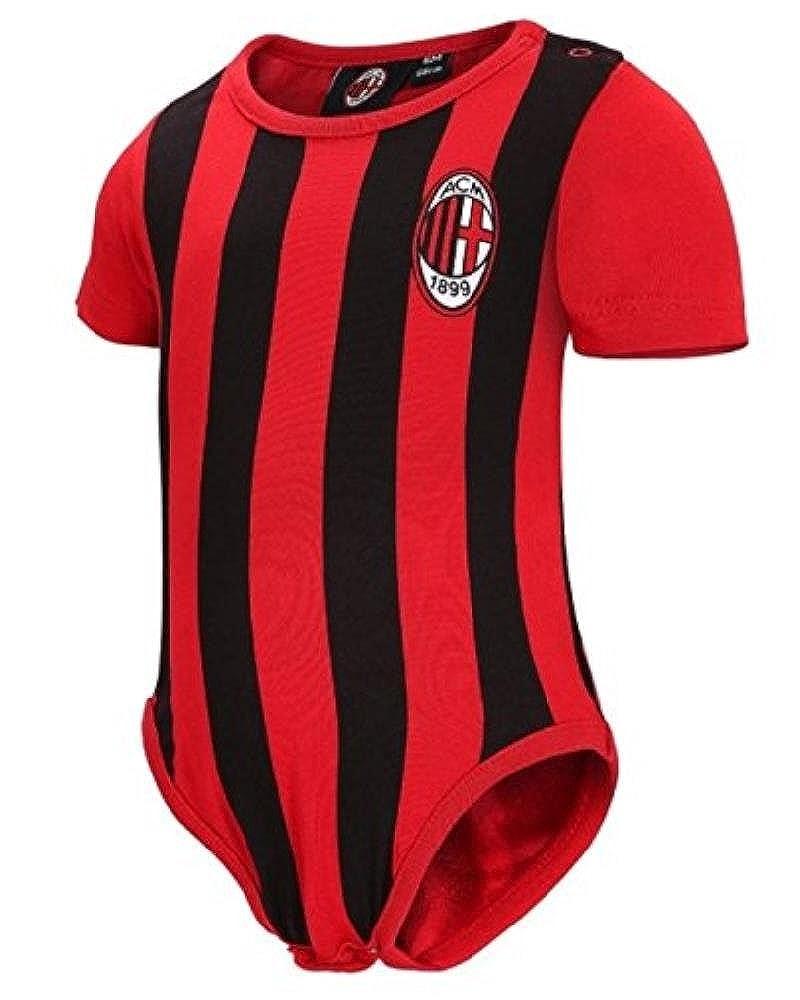 Body Neonato a Righe Rosso Nero Abbigliamento Ufficiale AC Milan *12685