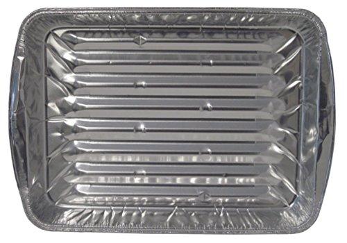 Aluminum Broiler Pans (Durable Packaging Disposable Aluminum Broiler Pan, Large (Pack of 500))