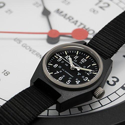MARATHON WW194003BK General Purpose Mechanical (GPM) Military Field Watch with Tritium and Sapphire Crystal. (Black)