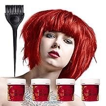 4 x La Riche Directions Semi-Permanent Hair Colour Dye Box Of Four-Pillarbox Red