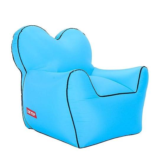 Sofá inflable portátil al aire libre grande, cama individual ...