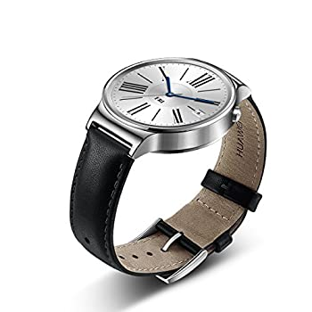 Huawei Watch Stainless Steel With Black Suture Leather Strap (U.s. Warranty) 6