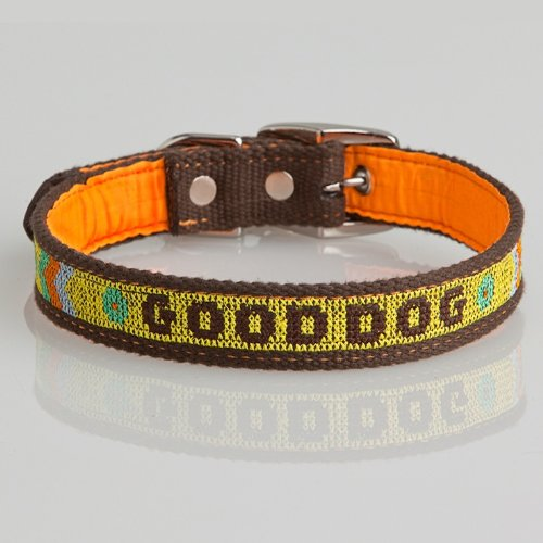 The Life of Ryley Good Dog Collar - Yellow Medium