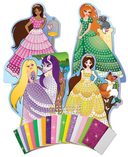 The Orb Factory Sticky Mosaics Princesses Kit Getting Fit 72292