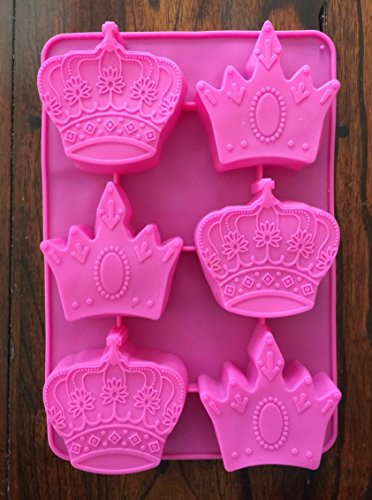 PRINCESS CROWN SILICONE MOLD MINI CAKE PAN PRINCESS MUFFIN MOLD (Princess Pans compare prices)