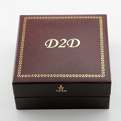 Diamond2Deal 5 Stone Diamond Wedding Ring in 14K White Gold 0.25ct Size 6 by Diamond2Deal (Image #4)