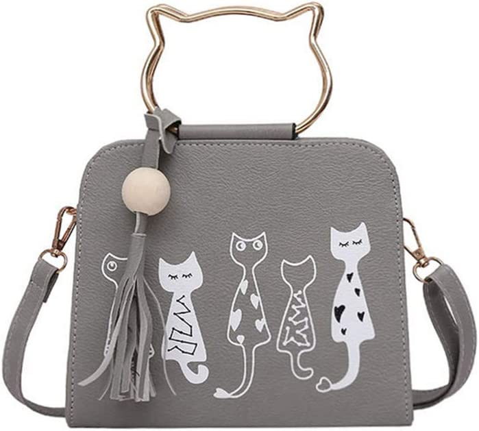 Adagod 2019 Trend Ladies Kitty Handbag Kitten Shoulder Diagonal Female Package Cat Handle