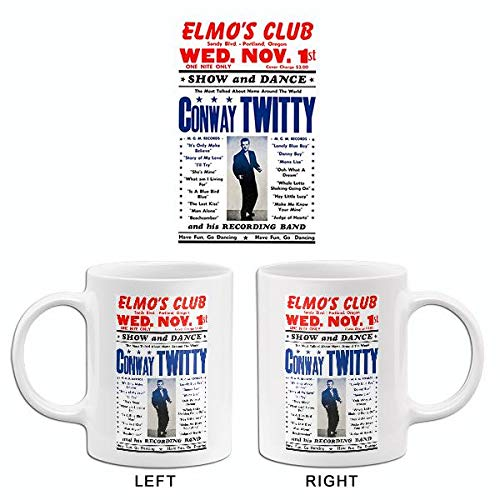 Conway Twitty - Elmo's Club - Portland OR - 1961 - Concert Poster ()