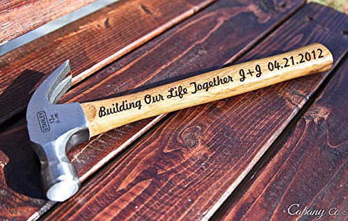 Building Our Life Together Personalized Engraved Hammer