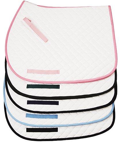 TUFFRIDER Basic All Purpose Saddle Pad W/trim - WHITE/PINK (Standard Saddle Pads)