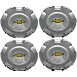 4X Brand NEW Four Pcs Set For CHEVROLET Chevy Polished Wheel Center Hub Caps 2007-2013 Silverado 2007-2013 Chevrolet Avalanch