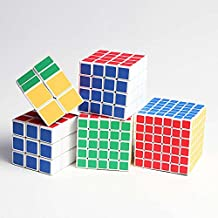 Set of shengshou 2x2 3X3,4x4,5x5,6x6 sticker magic cube,white( 5 in packed)