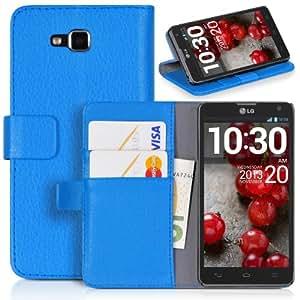 DONZO Wallet Structure Funda para LG Optimus L9 II D605 azul