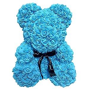 HuaHua-Store 38Cm Rose Bear Artificial Flowers Foam Rose for Women Bear,2 16