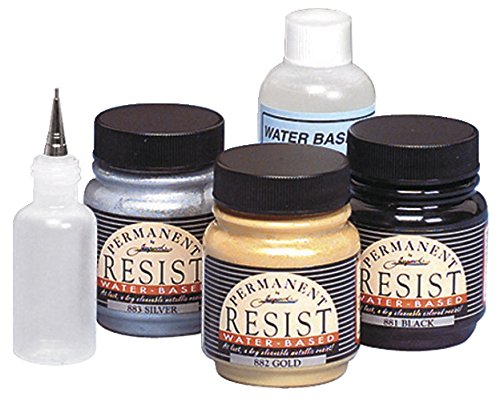 (Jacquard Resist Silk Painting Dye with Applicator Bottle (Set of 4))