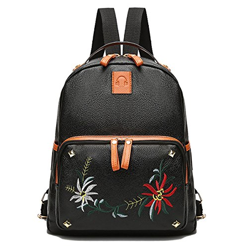 Pu Coolives Backpacks Soft White1 Trip Women Fashion For Embroidery Girls Backpack Waterproof Small nIqIpHB4
