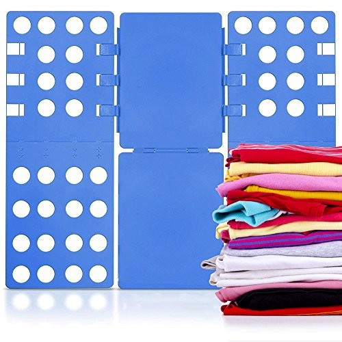 Zinnor Clothes Folding Board,Thickness Shirt Folding Board Easy and Fast Laundry Folder flip fold rack,Blue Flip Fold Clothes