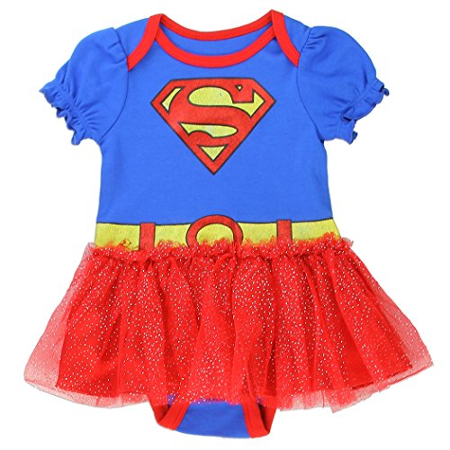 Infant Onesie Creeper (Supergirl Infant Baby Girls Tutu Creeper Onesie Bodysuit (0-3 mo., Blue / Red))